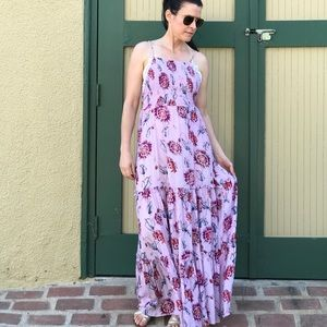 FREE PEOPLE Garden Party Lilac Maxi Dress Small